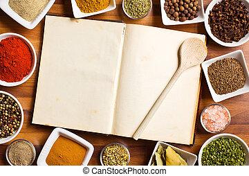 vario, ricettario, herbs., spezie