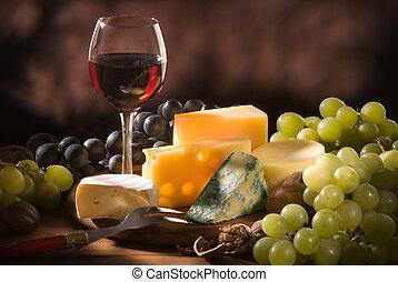 vario, tipi, formaggio, composizione