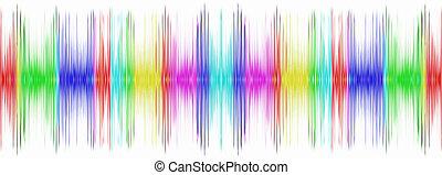 variopinto, display., suono, equalizzatore, bianco