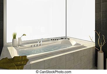 vasca bagno, viste