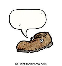 vecchia scarpa, cartone animato