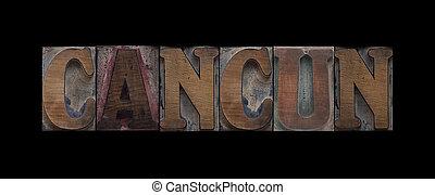 vecchio, cancun, legno, tipo