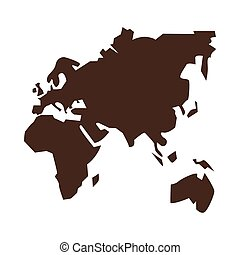 vecchio, continenti, geografia, icona, silhouette
