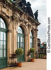 vecchio, finestra, archi, costruzione, porta