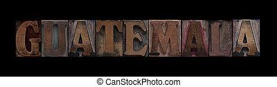 vecchio, guatemala, legno, tipo