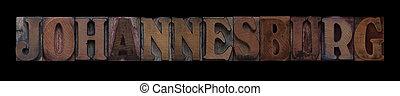 vecchio, johannesburg, legno, tipo