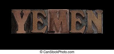 vecchio, legno, tipo, yemen