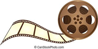 vecchio, nastro, film