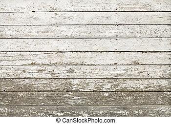 vecchio, parete, rustico, bianco, asse, granaio