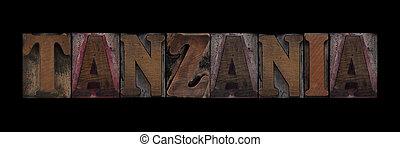 vecchio, tanzania, legno, tipo