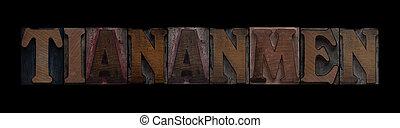 vecchio, tiananmen, legno, tipo