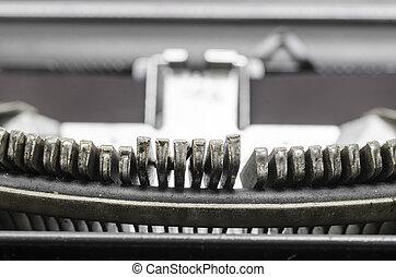 vecchio, typewriter., lettere, fine