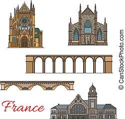 vecchio, viaggiare, francia, architettura, punto di riferimento, icona