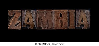 vecchio, zambia, legno, tipo