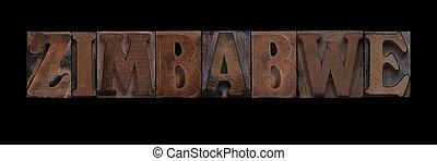 vecchio, zimbabwe, legno, tipo