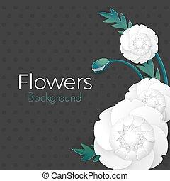 vector., manifesto, matrimoni, augurio, carta, compleanno, disegno, fondo, testo, posto, fiori, scheda