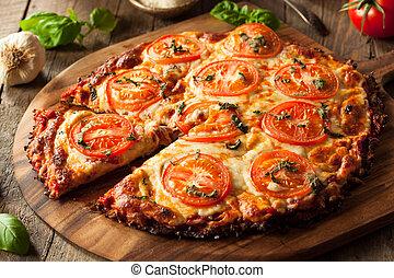 vegan, pizza, casalingo, cavolfiore, crosta