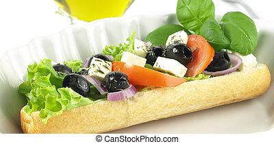 vegetariano, panino
