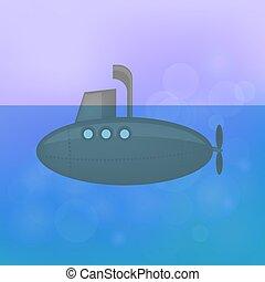 vele, rosa, sfocato, grigio, fondo, sottomarino, blu