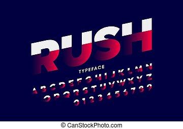 velocità, font, stile