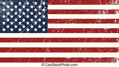 vendemmia, bandiera, stati uniti