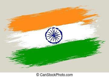 vendemmia, bandiera, vettore, india