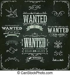 vendemmia, bandiere, desiderato, lavagna, occidentale