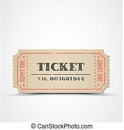 vendemmia, biglietto, vettore