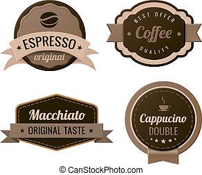 vendemmia, caffè, etichette