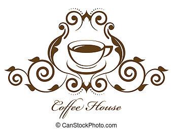vendemmia, caffè, vettore, icona