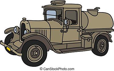 vendemmia, camion serbatoio, militare