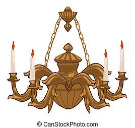 vendemmia, candele, ornamenti, candeliere