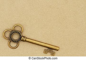 vendemmia, chiave scheletro, bronzo, retro