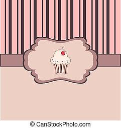 vendemmia, cornice, cupcake