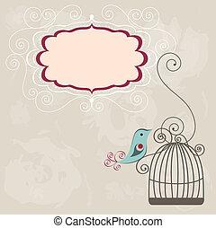 vendemmia, cornice, wih, birdcage