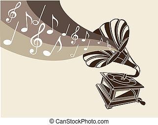 vendemmia, grammofono
