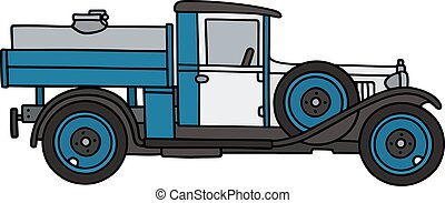 vendemmia, latteria, camion, serbatoio