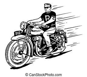 vendemmia, motocicletta, ribelle