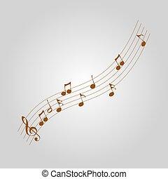 vendemmia, note, musicale