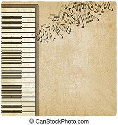 vendemmia, pianoforte, fondo