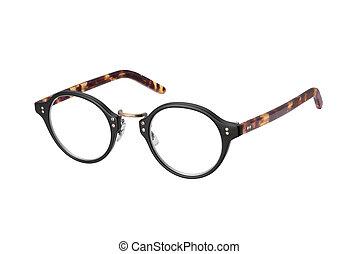 vendemmia, ritaglio, occhiali, isolato, percorso