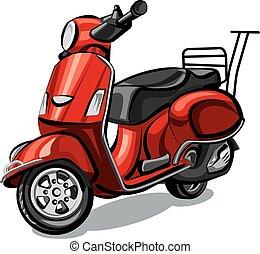 vendemmia, scooter, retro