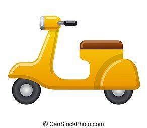 vendemmia, scooter, retro, icona