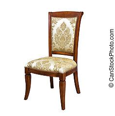 vendemmia, sedia, bianco