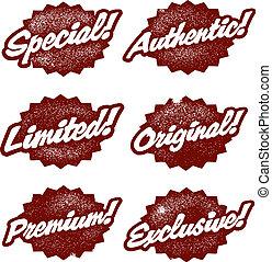 vendemmia, stile, vendita dettaglio, francobolli