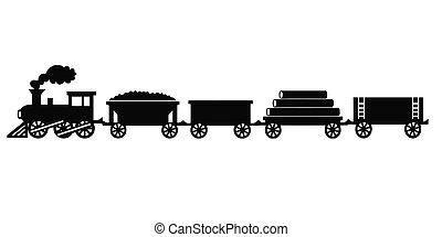 vendemmia, treno, giocattolo