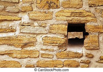 vendemmia, vecchio, pareti, castello, storico