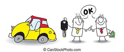 vendere, automobile, tuo