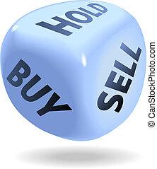 vendere, comprare, finanziario, dado, presa, rotolo, mercato, casato