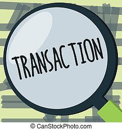 vendita, affari, scambio, foto, esposizione, accordo, scrittura, nota, istanza, qualcosa, showcasing, transaction., o, acquisto